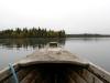 Fören på gammal träbåt